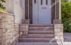 House Entrance Stairs Design Fresh Family House Entrance Stairs White Door Stock Edit