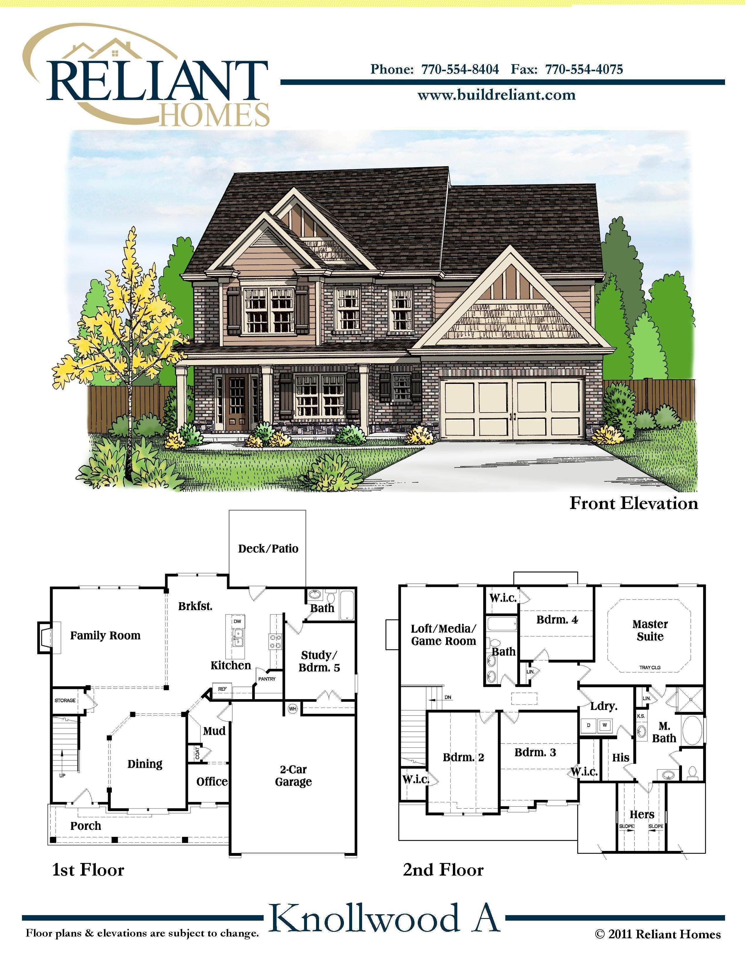 House Floor Plans for Sale Inspirational Reliant Homes the Knollwood A Plan Floor Plans