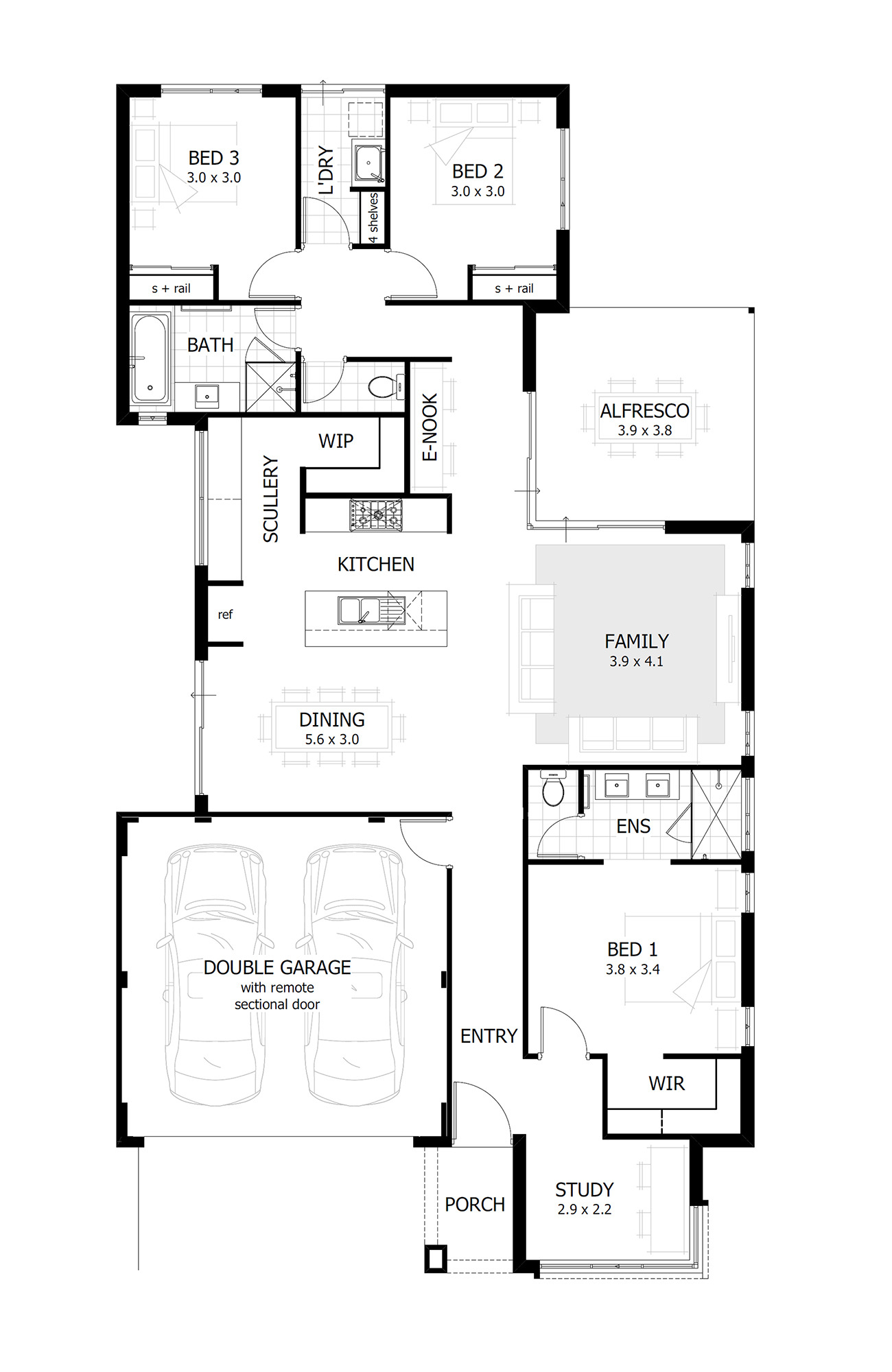 home plan drawing 4