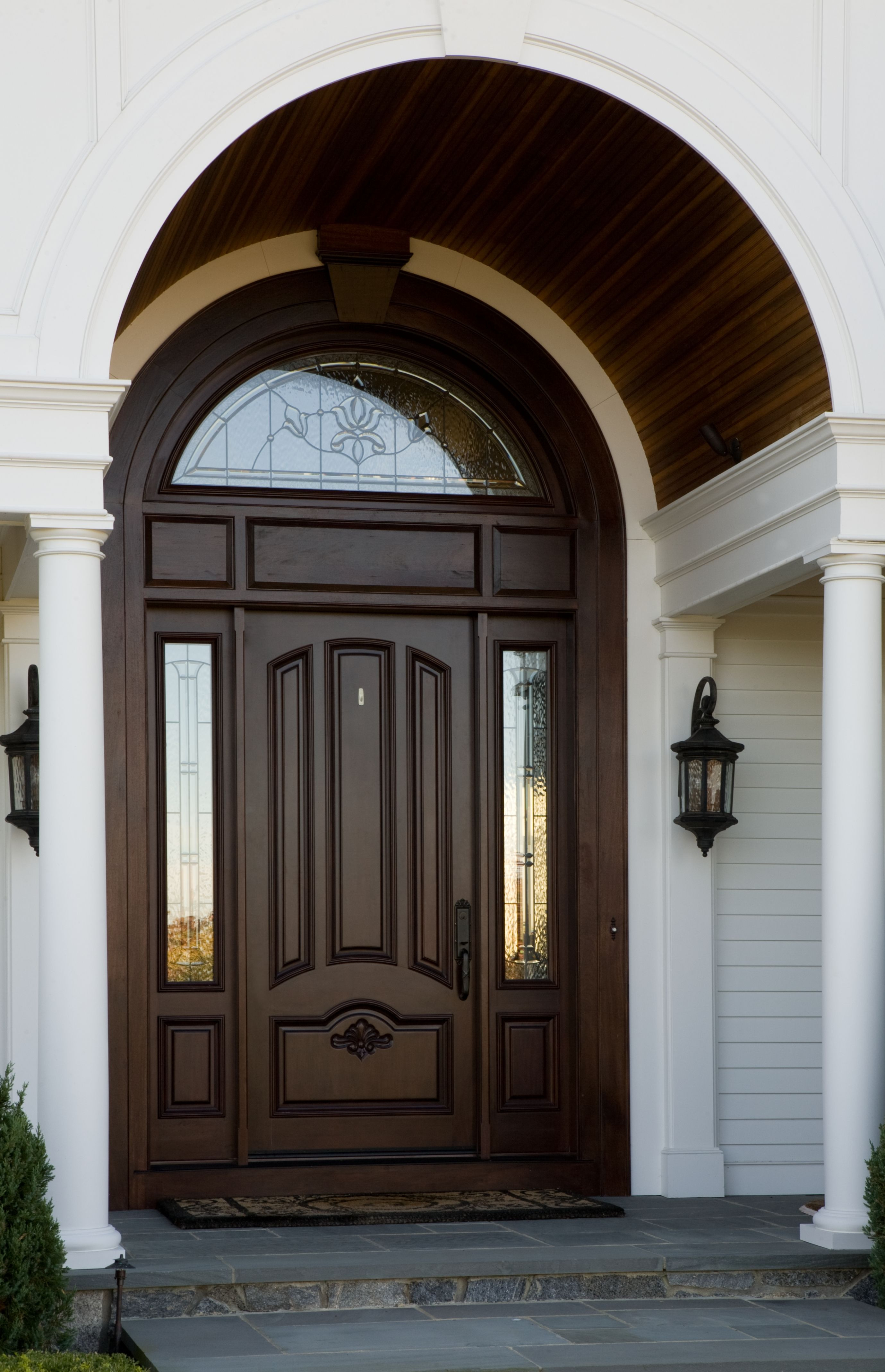 House Main Gate Arch Design Fresh A Beautiful Wooden Arch Accentuates the Curved Window Above