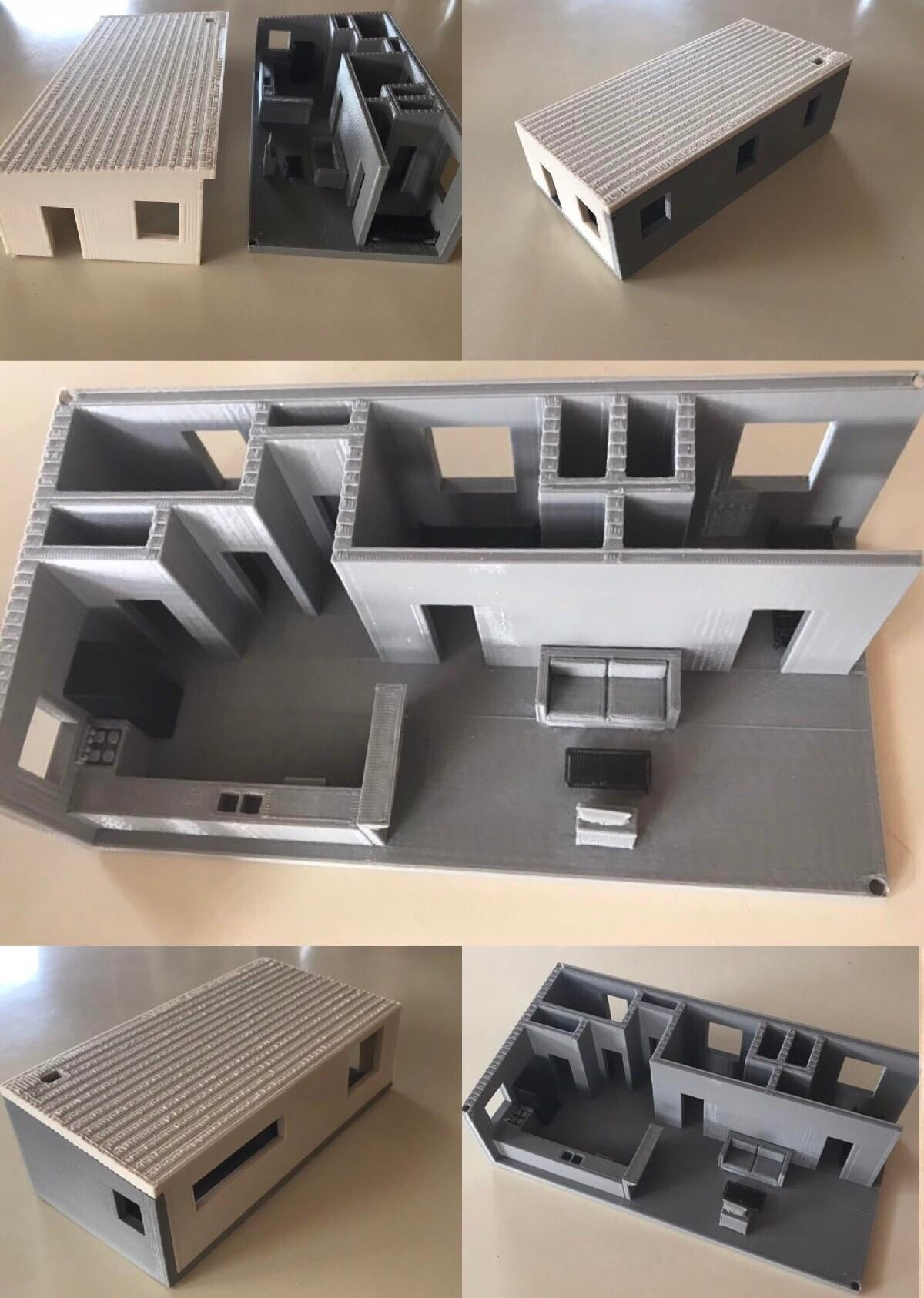 my first ever 3d print a model of a tiny house