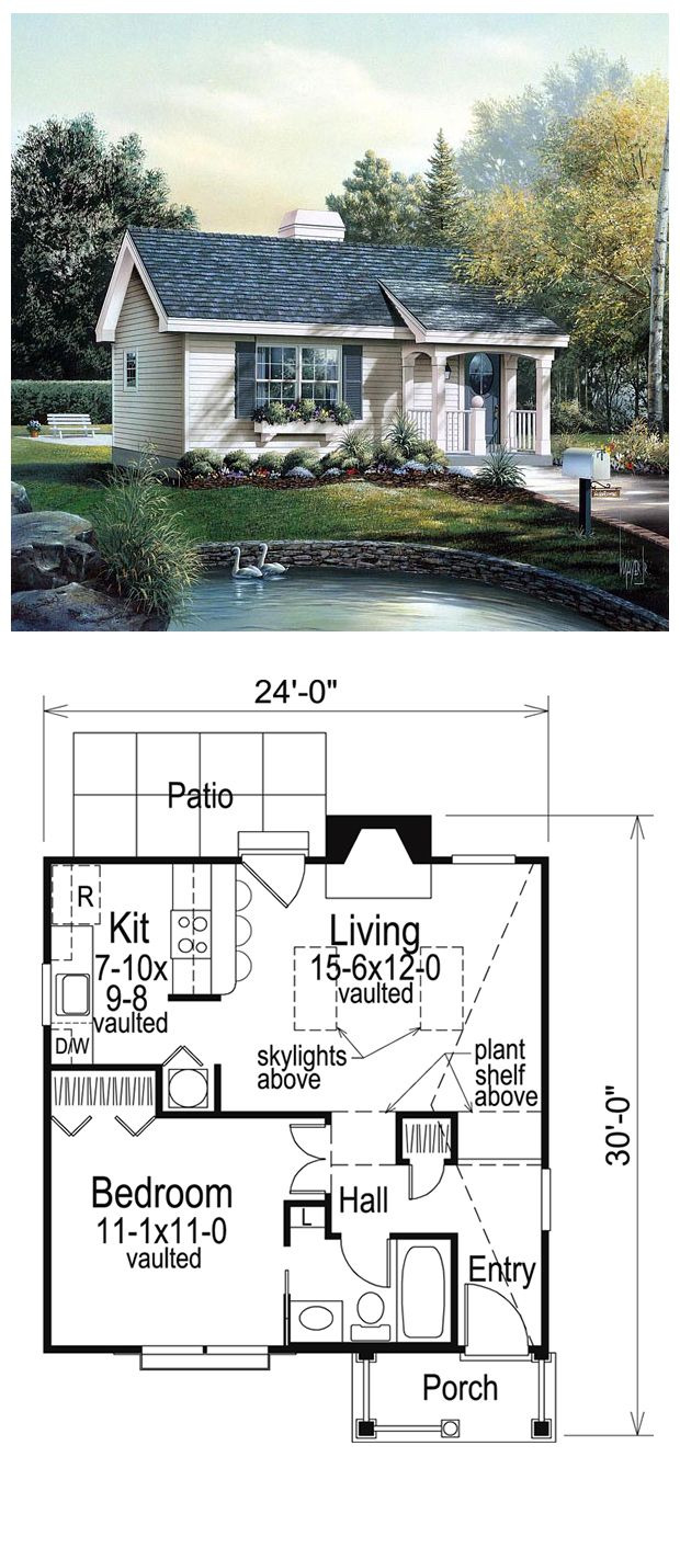 House Plans for Small Cottages Inspirational Ranch Style House Plan with 1 Bed 1 Bath