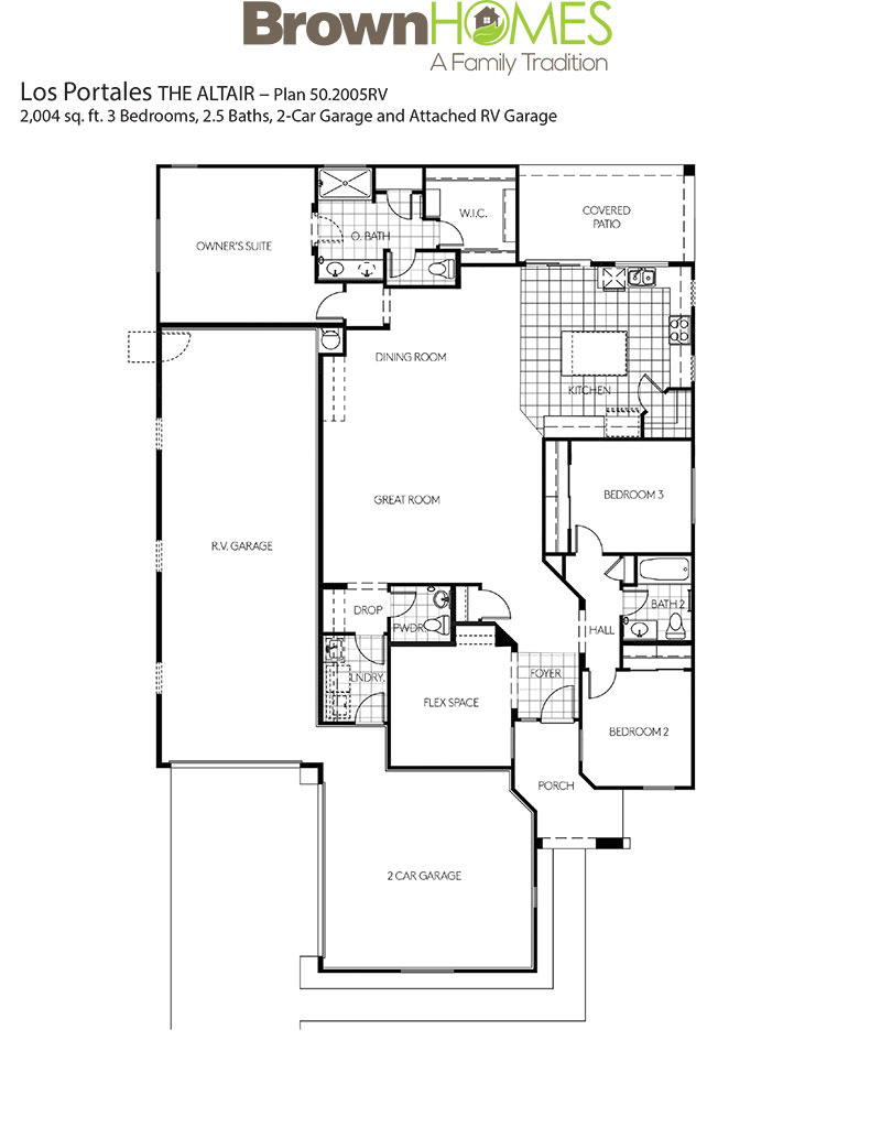 Plan 50 2005RV The Altair Floor Plan
