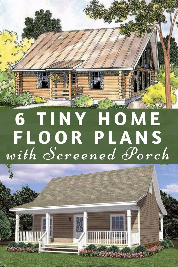 House Plans with Screened Porches Lovely 6 Tiny Home Floor Plans that Include A Screened Porch