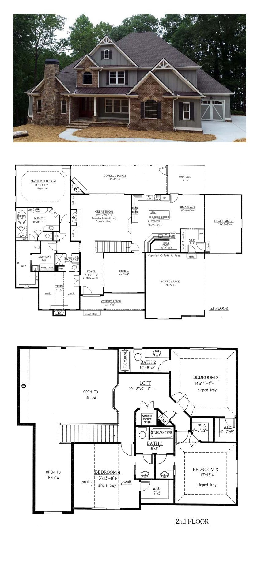 Houses and House Plans Lovely Traditional Style House Plan with 4 Bed 4 Bath 3 Car