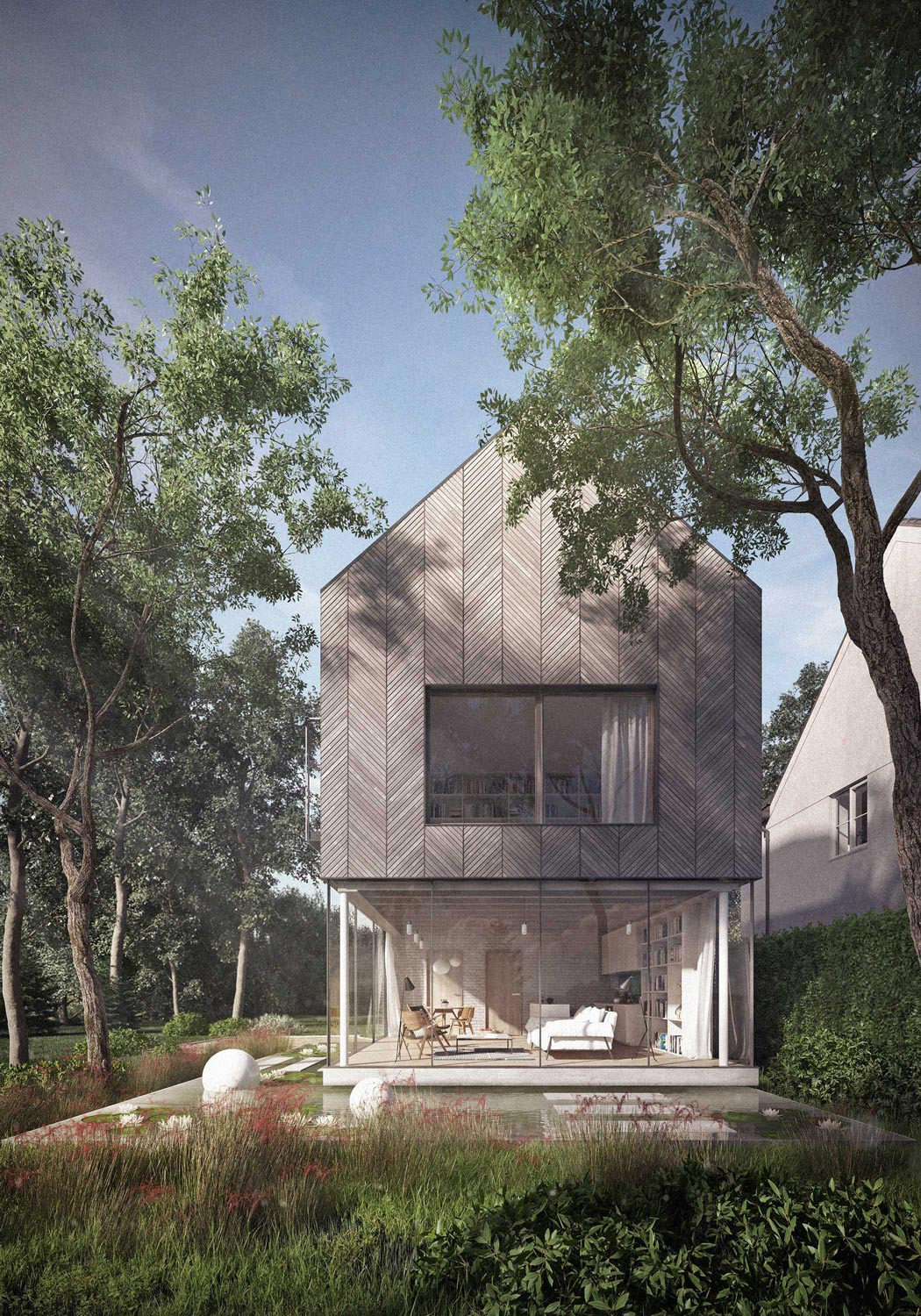 Architect wood house timber2