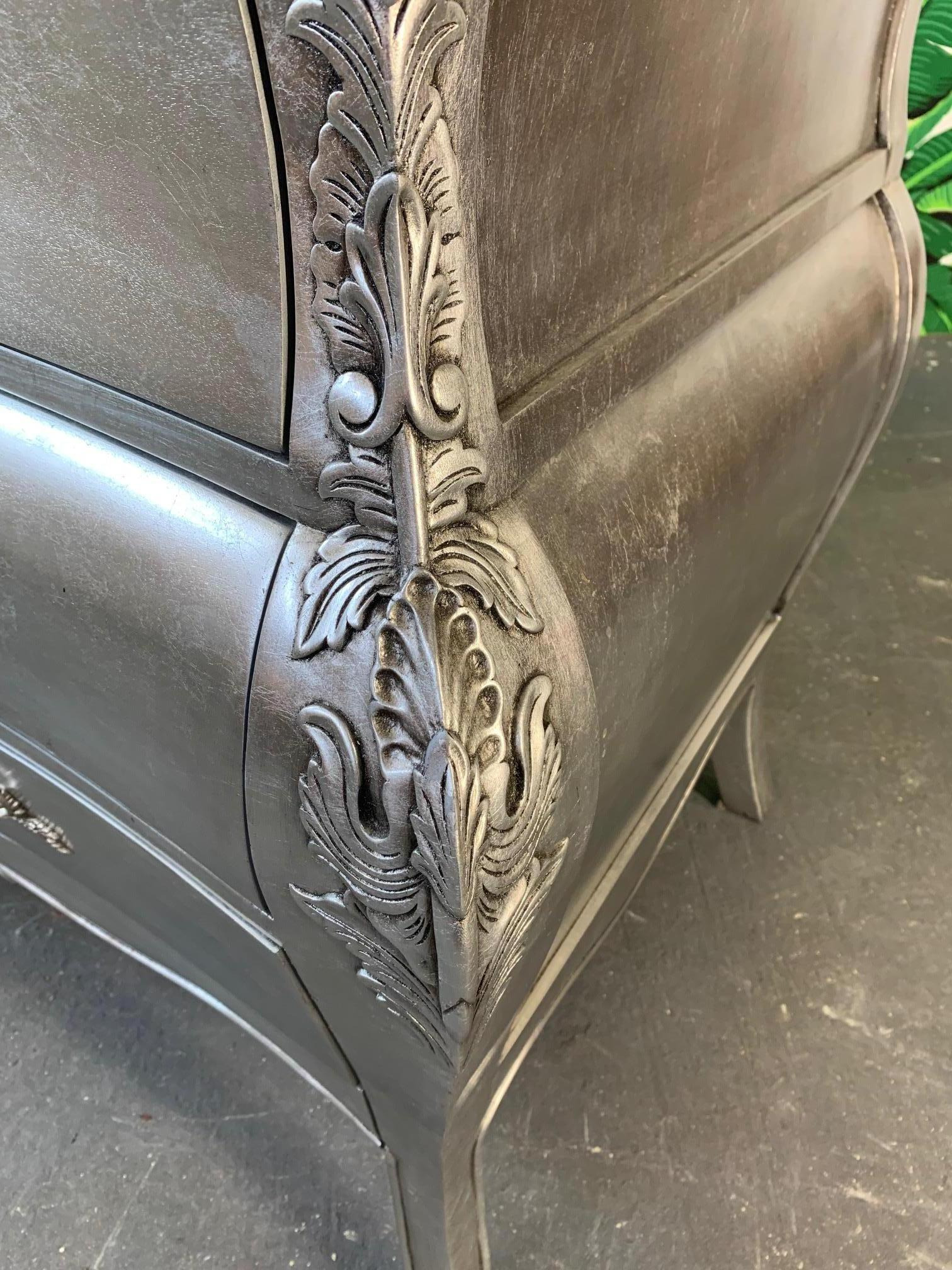 How to Antique Silver Leaf Furniture Beautiful Silver Leaf French Rococo Style Dresser