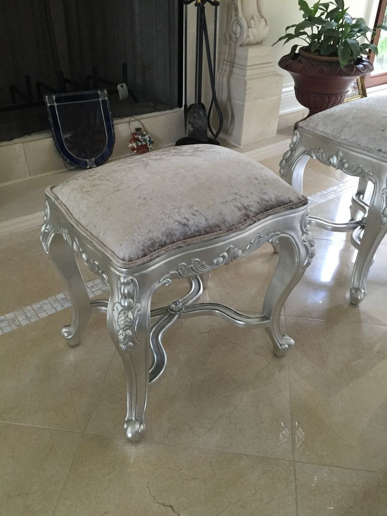 How to Antique Silver Leaf Furniture Best Of Fabulous French Dressing Table Stool Silver Leaf