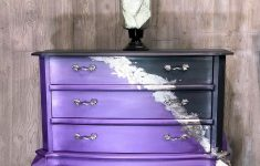 How To Antique Silver Leaf Furniture Inspirational Stormy Grey And Lavender With Silver Leaf And Purple Wax