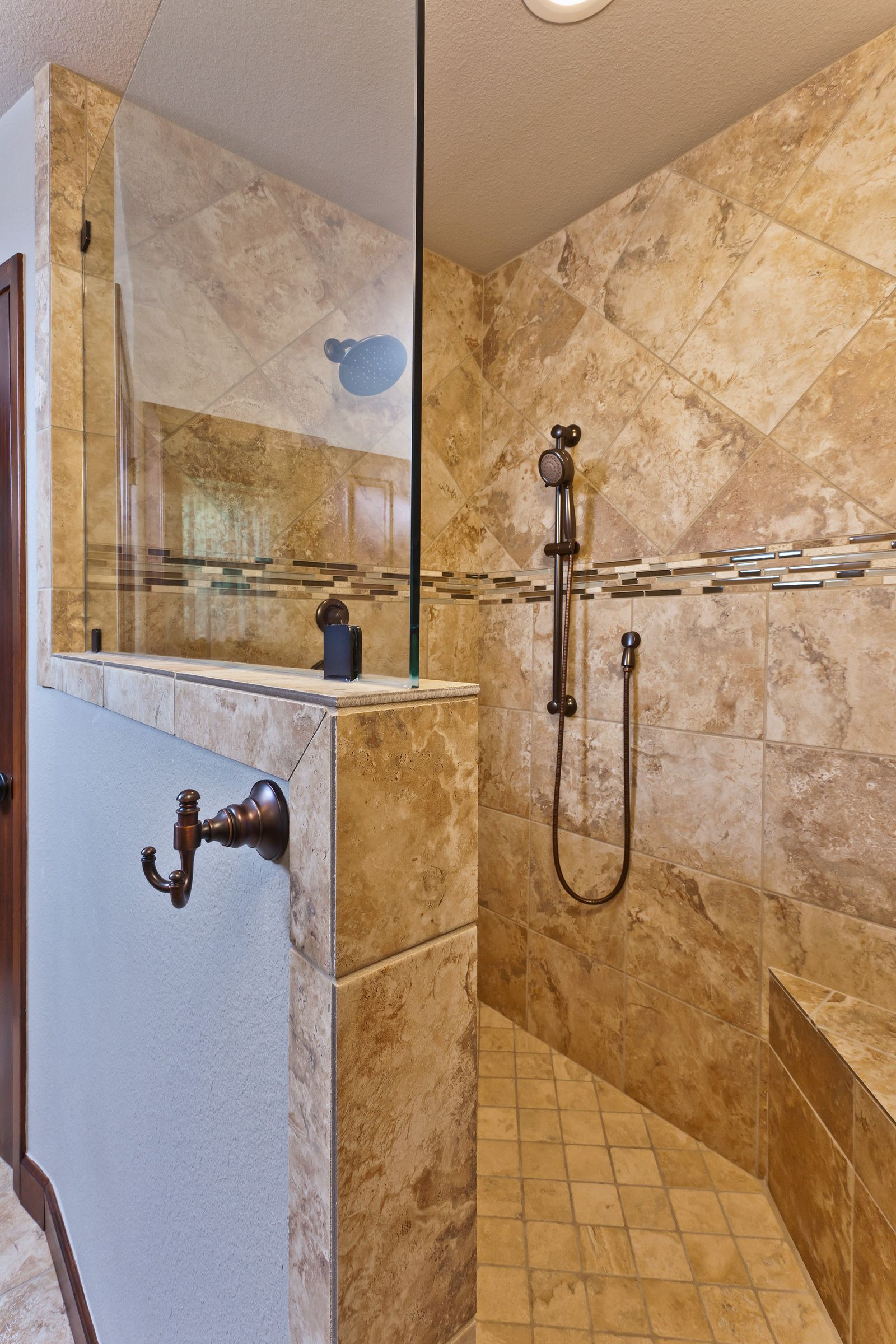 How to Design A Shower without A Door Beautiful Walk In Shower without Glass Designs Kumpalo