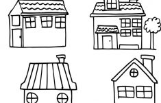 How To Draw A Pretty House Awesome House Style Set Hand Draw