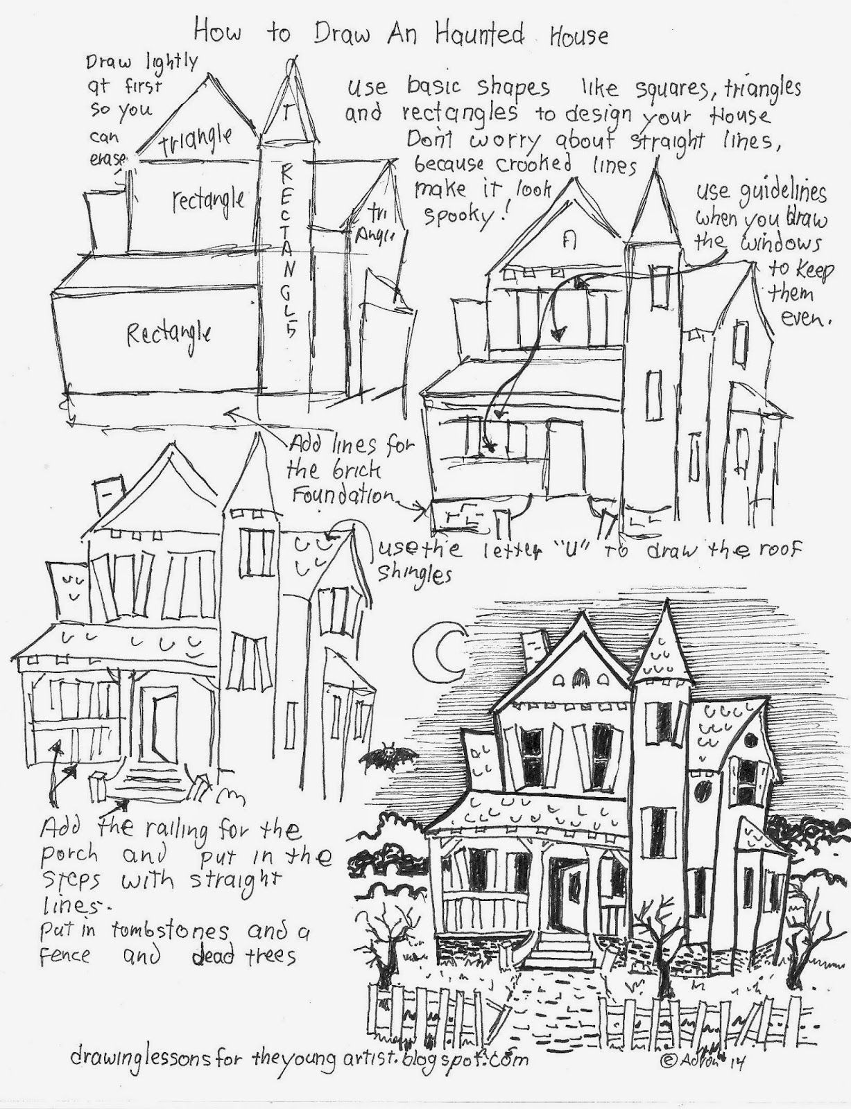 How to Draw A Pretty House Awesome How to Draw A Haunted House Free Worksheet How to Draw