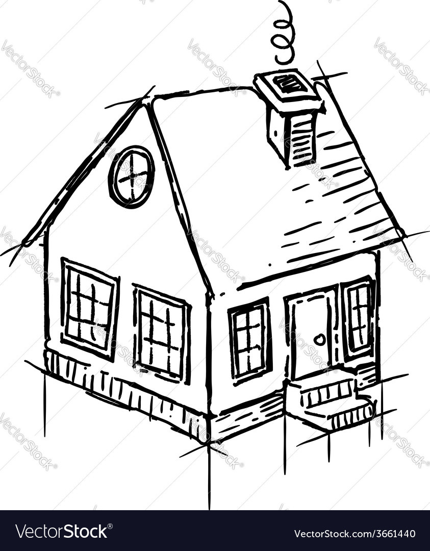 How to Draw A Pretty House Fresh Easy House Drawing at Getdrawings