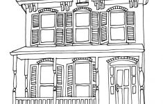 How To Draw A Pretty House Fresh Simple House Drawing For Kids At Getdrawings