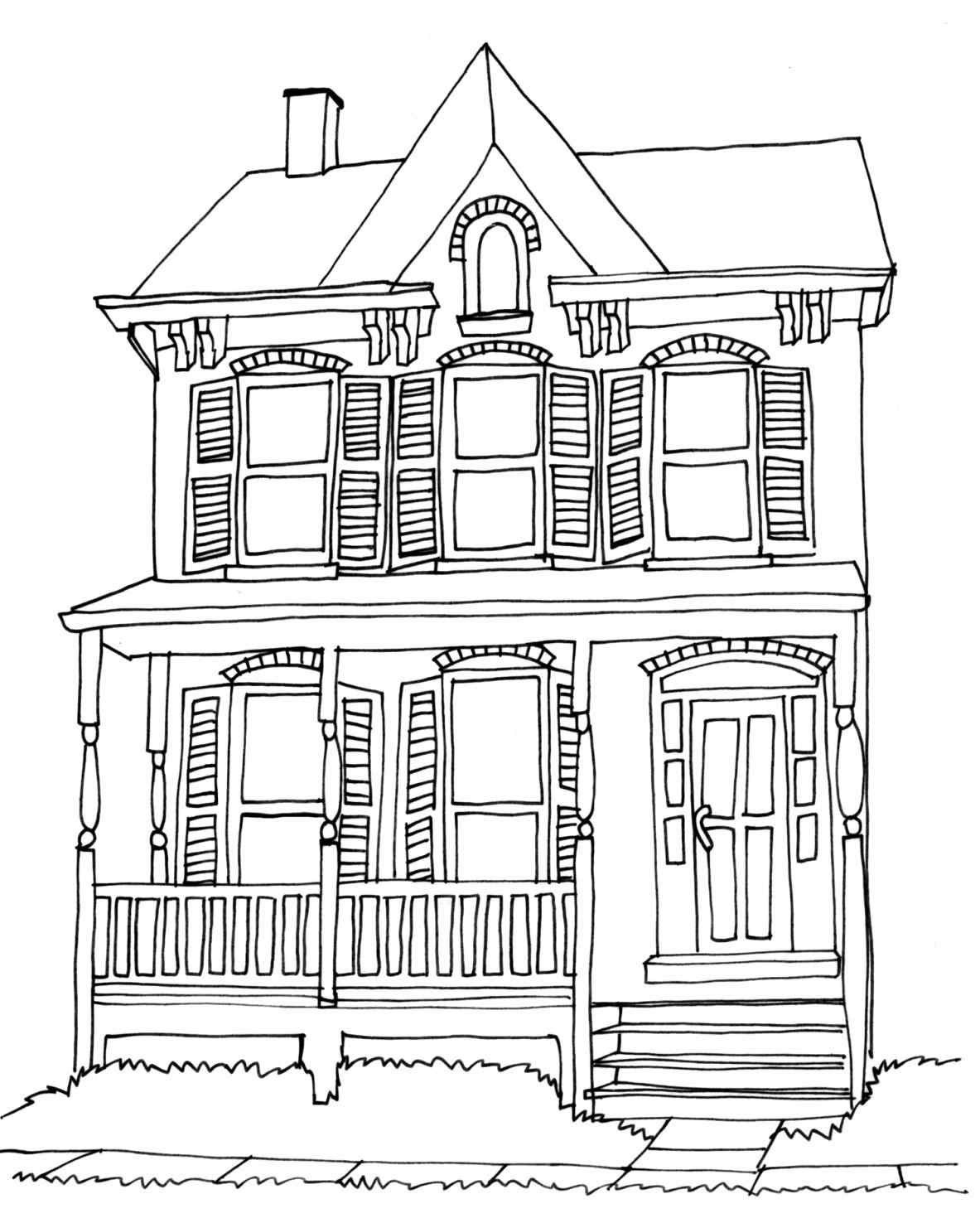simple house drawing for kids 40