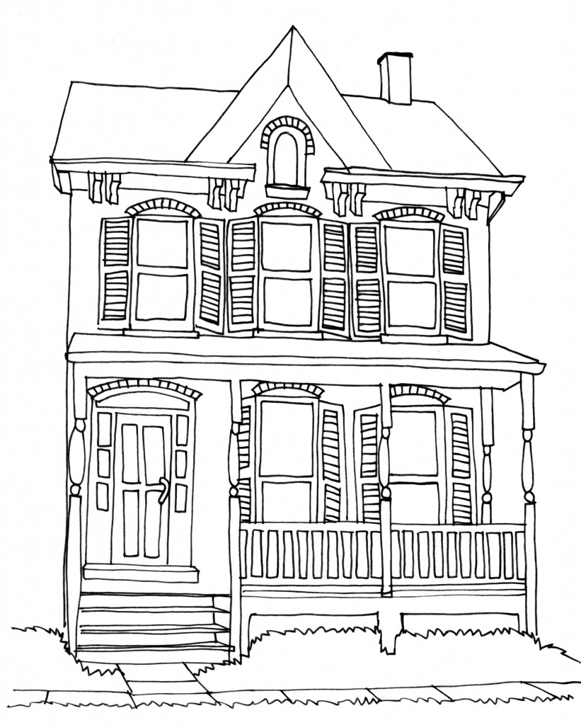house sketch easy 31