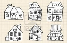 How To Draw A Pretty House New Stock Vector