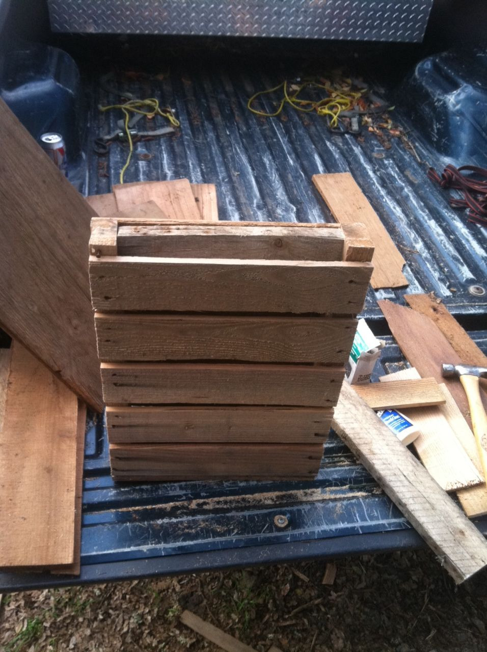 How to Make A Bat House Free Plans Unique Bat House In the Making From Free Wood Pallets