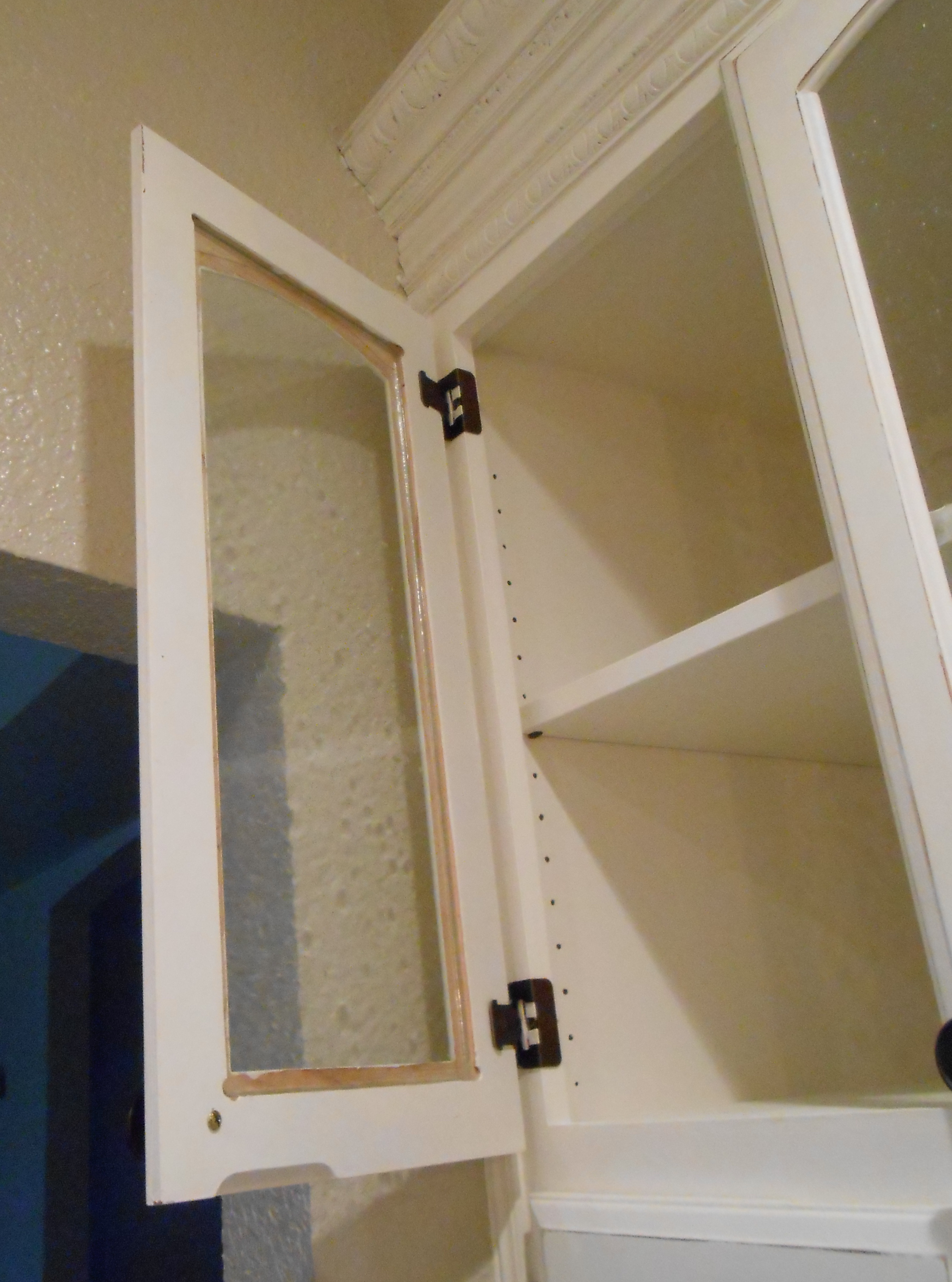 How to Make A Cabinet Door Elegant Diy Changing solid Cabinet Doors to Glass Inserts – Front