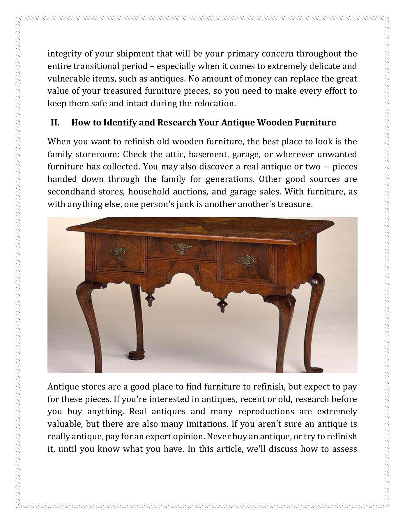How to Sell Antique Furniture Online Unique Everything You Need to Know About Moving Antique Furniture