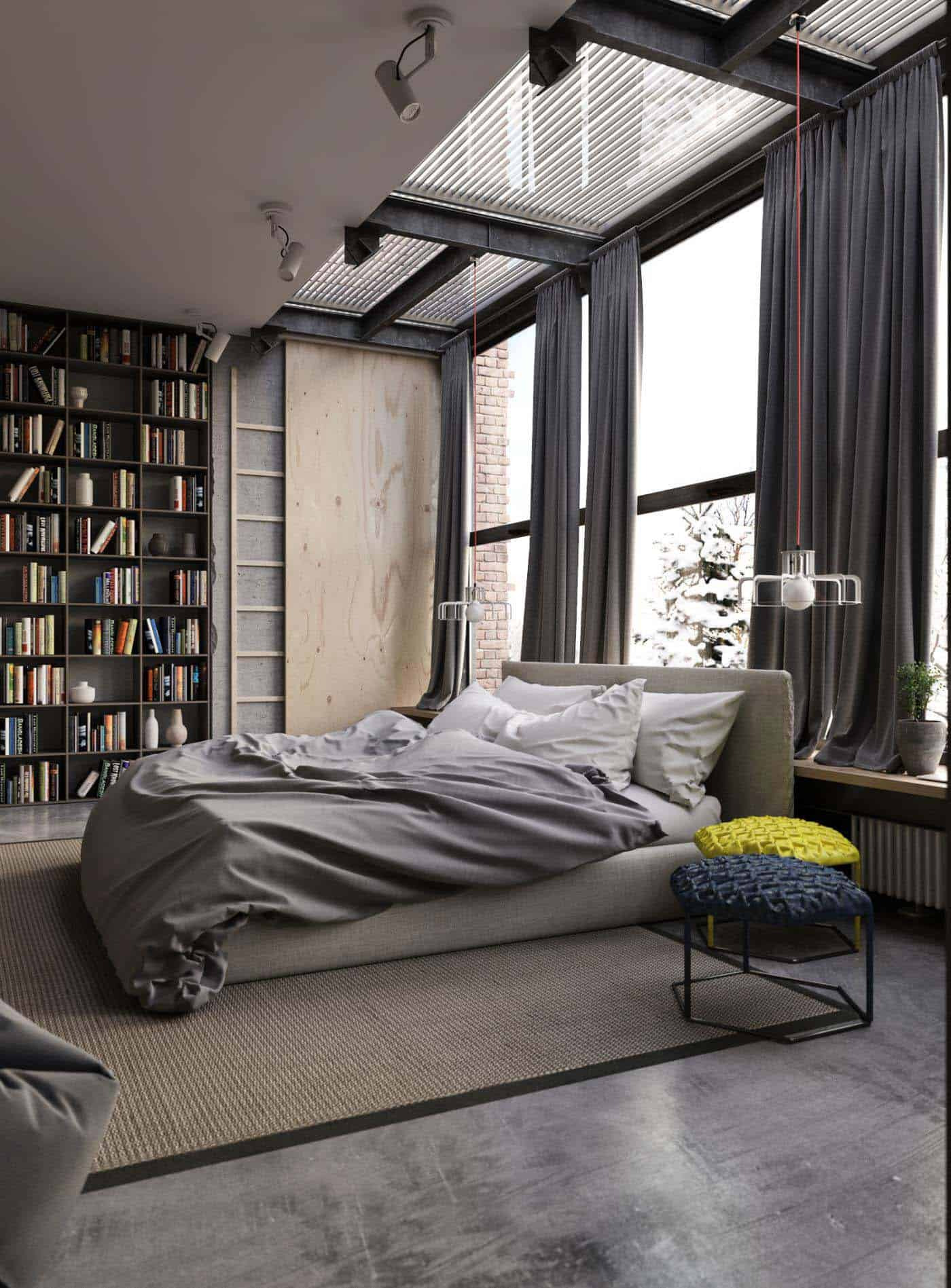 Industrial Style Bedroom Design Ideas 34 1 Kindesign