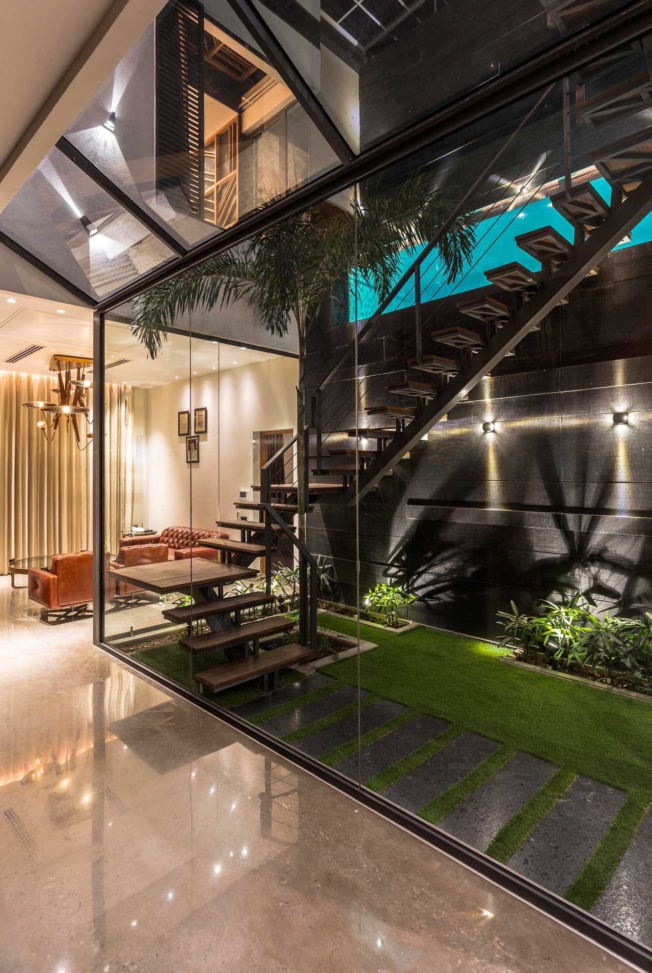 Interior Glass Walls for Homes Awesome A House In Panchkula with Glass Walls and An Elevated Pool