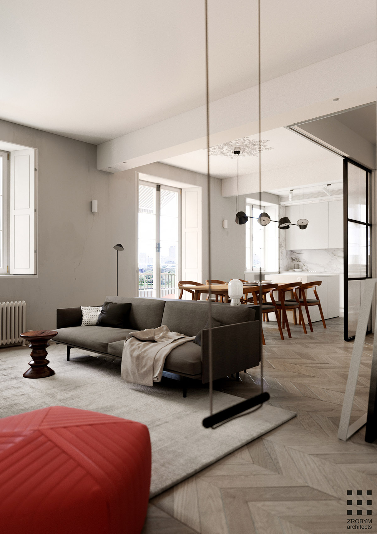 Interior Glass Walls for Homes New Studio Apartment with Glass Wall Bedroom & A Swing In the Lounge