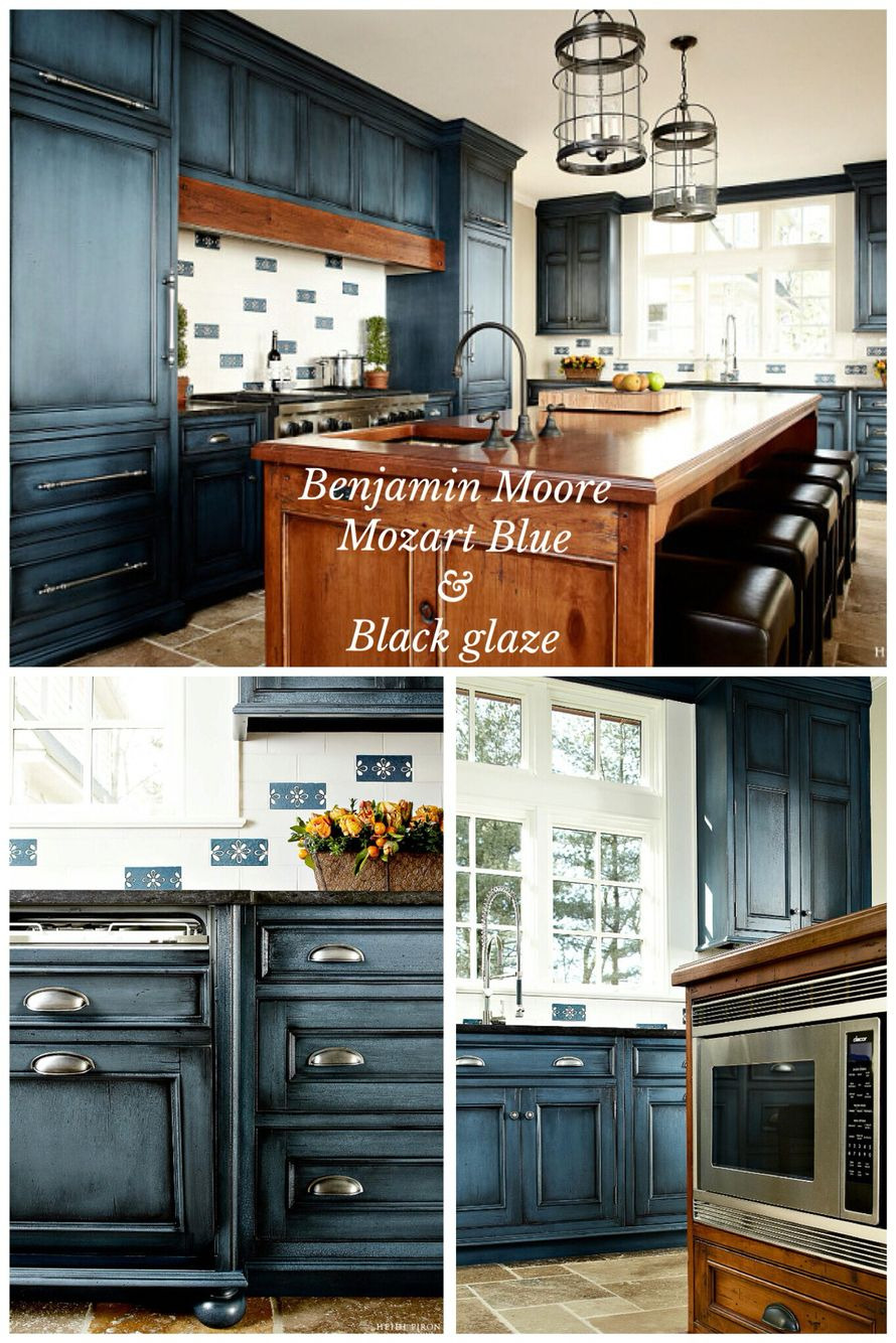 """Kitchen Cabinet Doors for Sale Luxury Benjamin Moore """"mozart Blue"""" with Black Glaze Done by Heidi"""