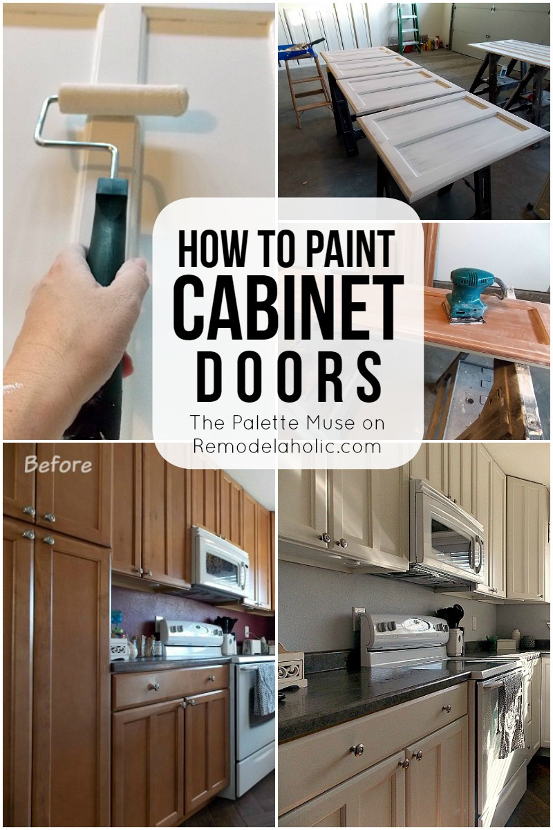 How to Paint Cabinet Doors the right way so you only have to do it once