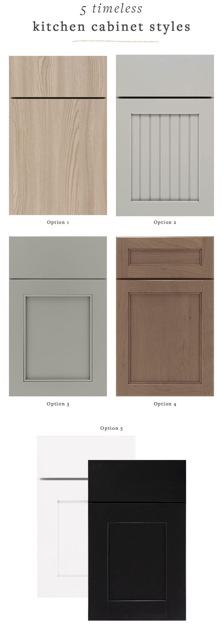 jojotastic 5 Timeless Kitchen Cabinet Door Styles 1