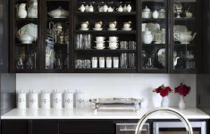 Kitchen Cabinets With Glass Doors Best Of Black Kitchen Cabinets With Glass Doors