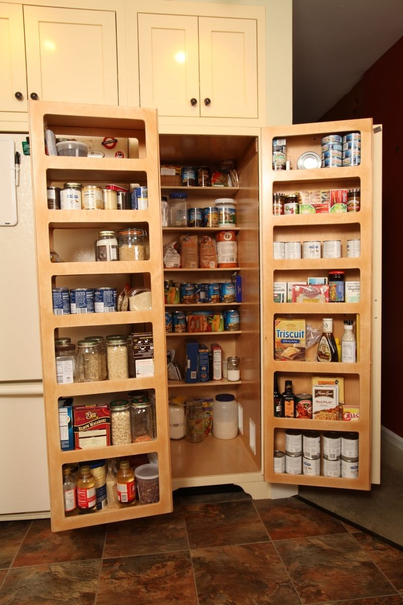 Kitchen Storage Cabinets with Doors Elegant Kitchen Pantry Double Fold Out Doors