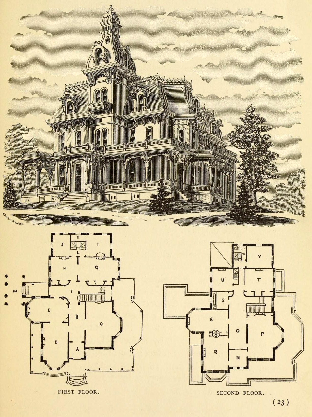 Large Victorian House Plans Luxury Design for A Large Residence