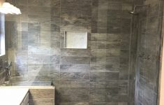 Large Walk In Shower Ideas New Tile Shower With Double Shower Heads And Bench Seat