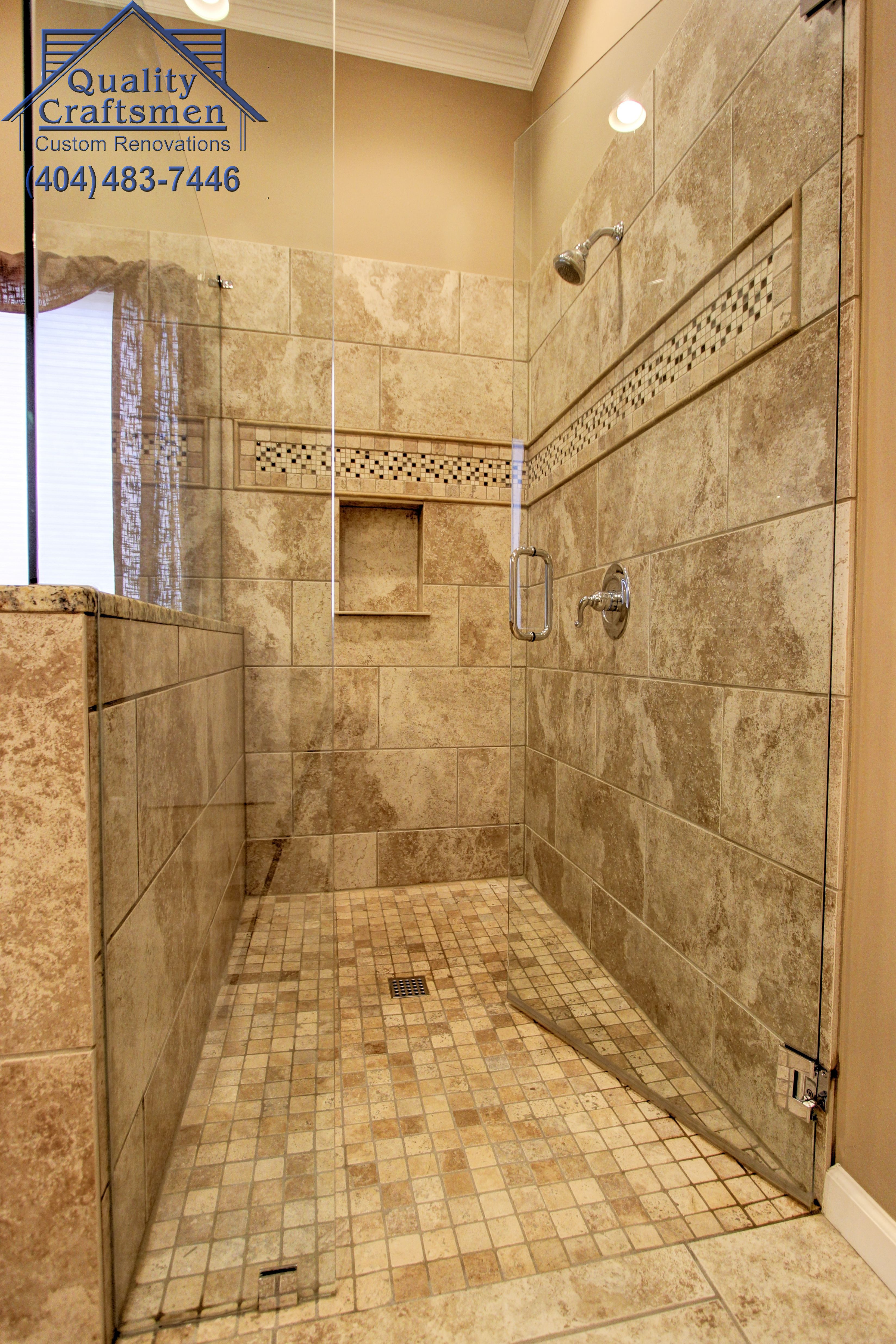 Large Walk In Showers without Doors Best Of No Curb Walk In Master Shower Travertine Tile and Recycled