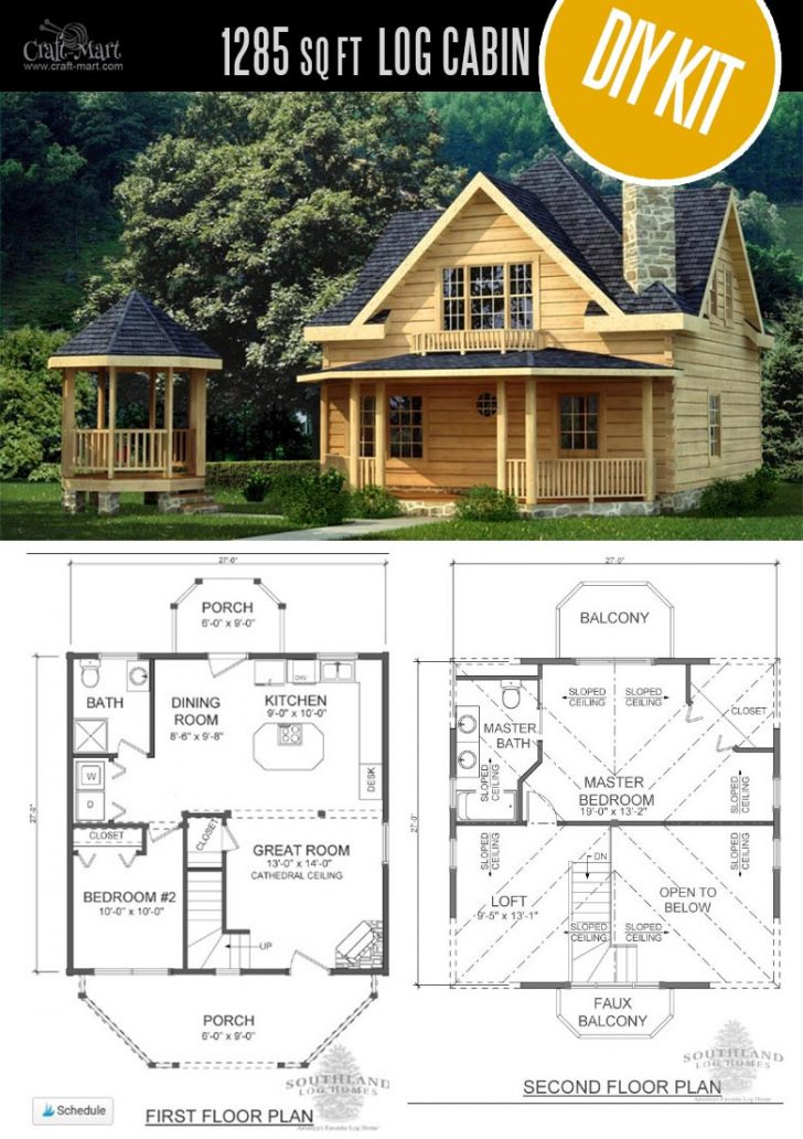 Log Cabin House Plans with Loft 2021
