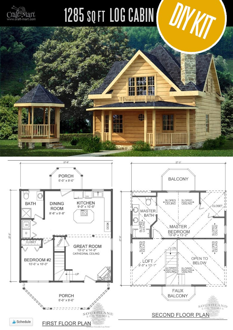 Log Cabin House Plans with Loft Unique Tiny Log Cabin Kits Easy Diy Project Craft Mart