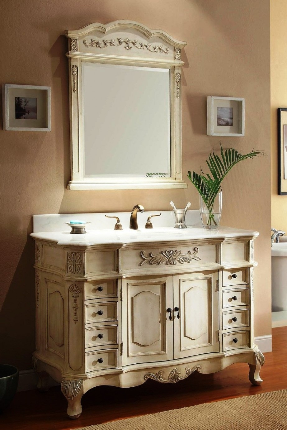 antique looking furniture with mirror 1