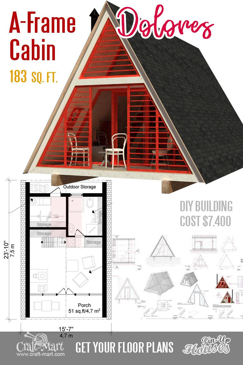 111 small house plans A frame Dolores