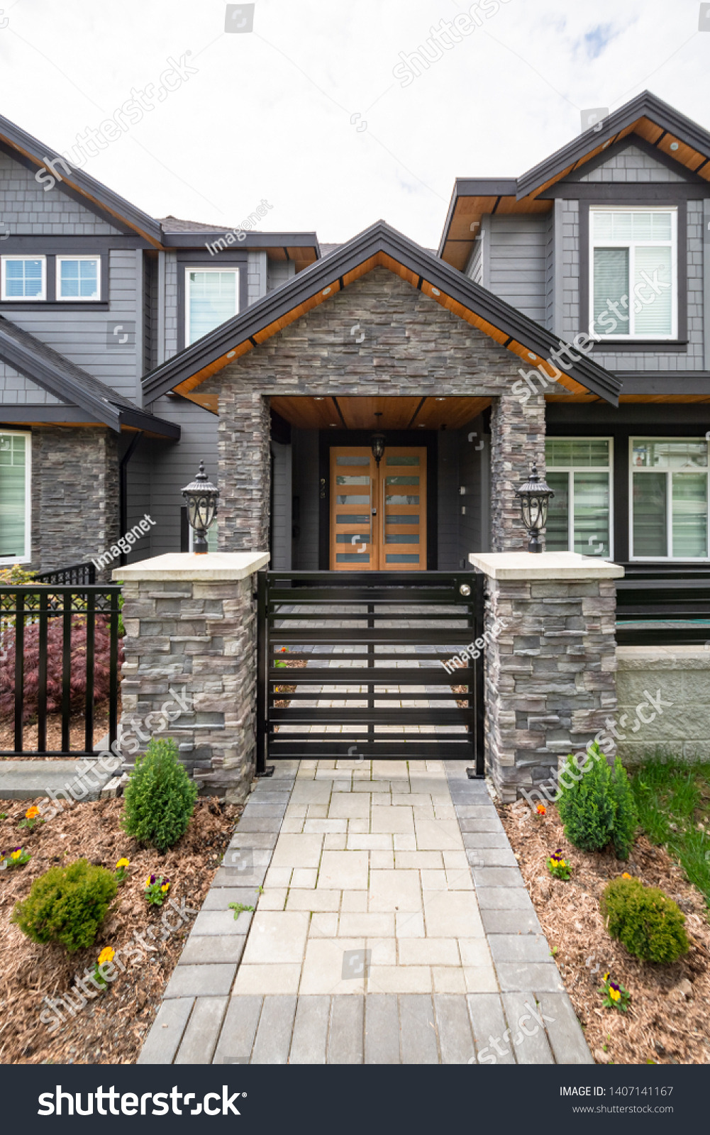 Luxury Home Entrance Gates Lovely Entrance Luxury Residential House Metal Gate Stock