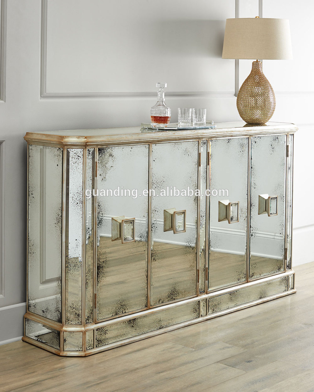Mirrored Cabinet Doors Beautiful General Home Use Antique Shabby Chic Mirrored Cabinet Console with 4 Doors Buy Home Usecabinet Cabinet Mirrored Cabinet Product On Alibaba