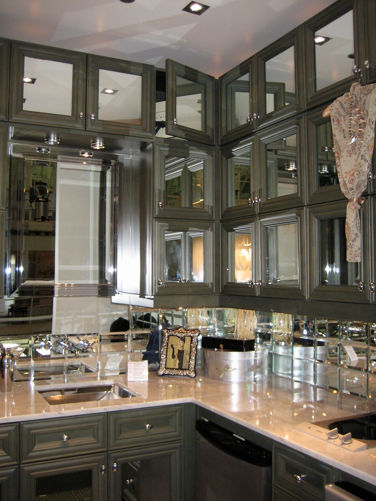 Mirrored Cabinet Doors New Mirrored Kitchen Cabinets with Regard to Your Home