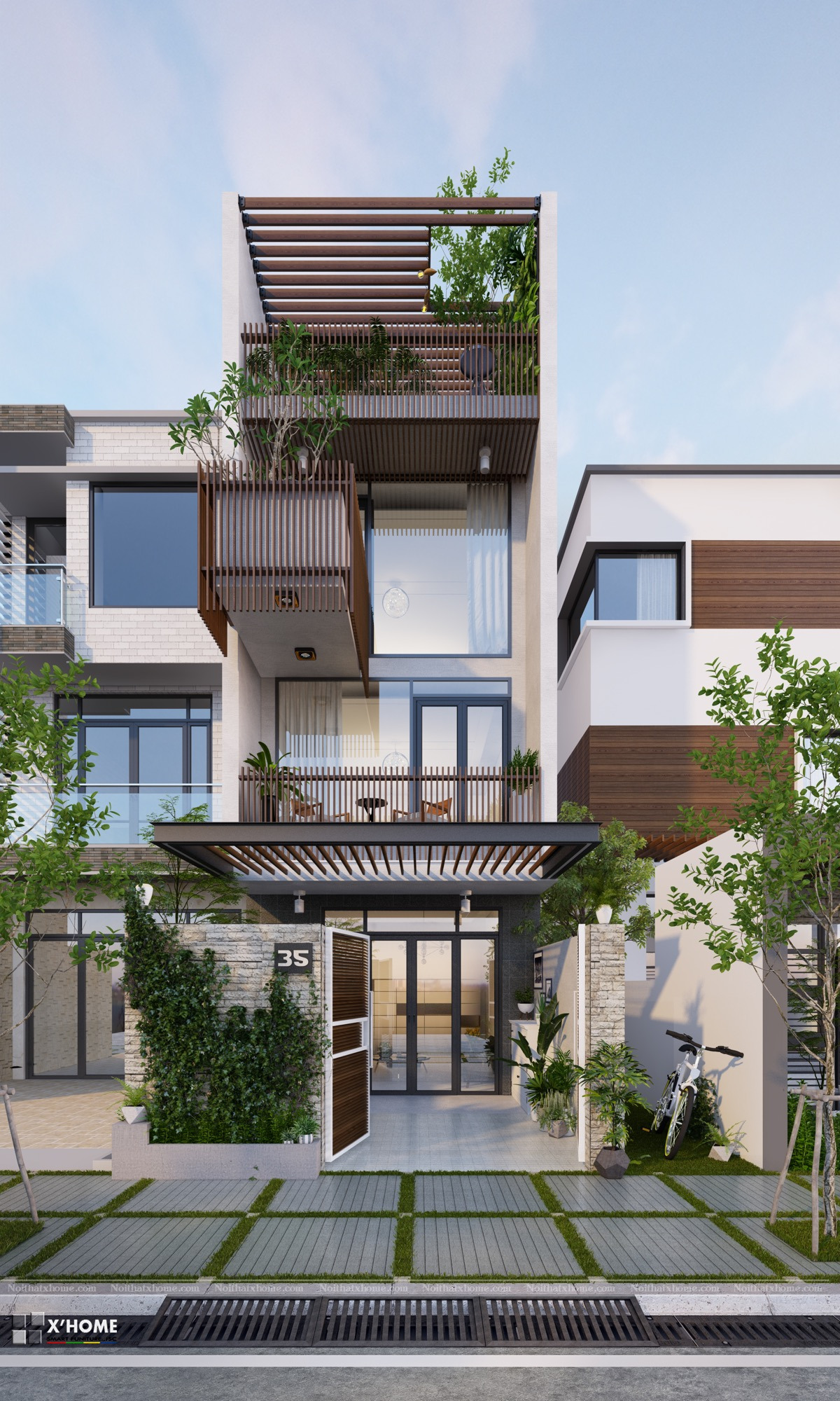 Modern Home Front View Design Luxury 50 Narrow Lot Houses that Transform A Skinny Exterior Into