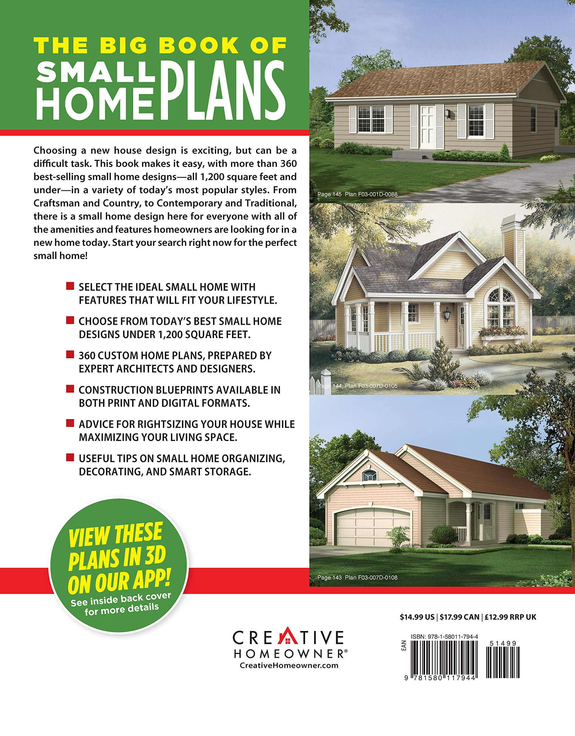 New Small Home Plans Best Of the Big Book Of Small Home Plans Over 360 Home Plans Under