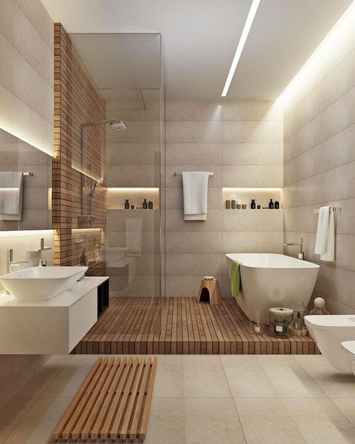 46 Fantastic Walk In Shower No Door for Bathroom Ideas 24