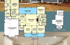 One Level Country House Plans Beautiful Single Story Modern Farmhouse Open Floor Plans Beautiful