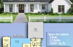 One Level House Plans With Porch New Plan Sm Exclusive Modern Farmhouse With Expansive Rear