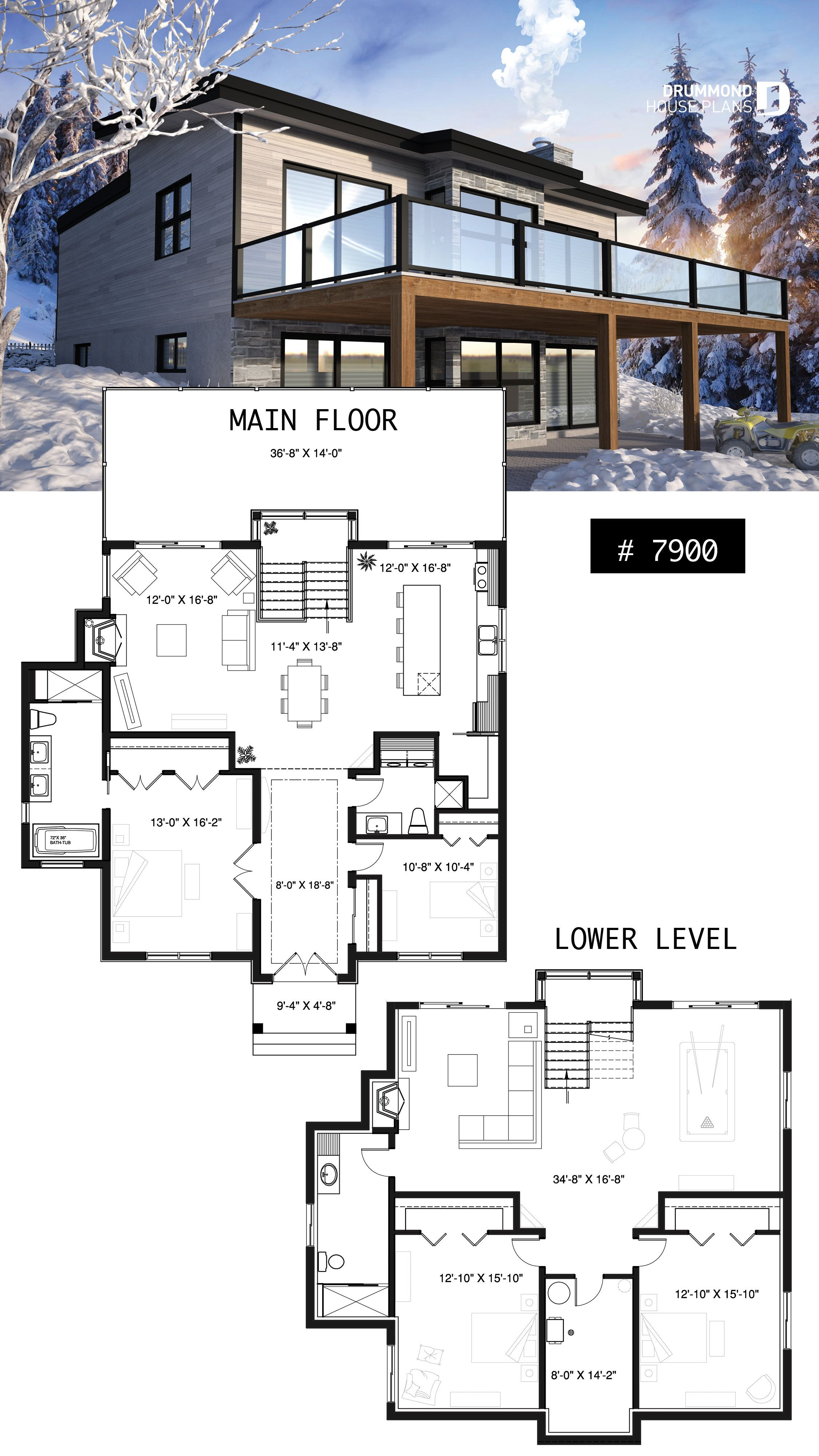 One Story House Plans with Finished Basement Awesome House Plan Gleason No 7900