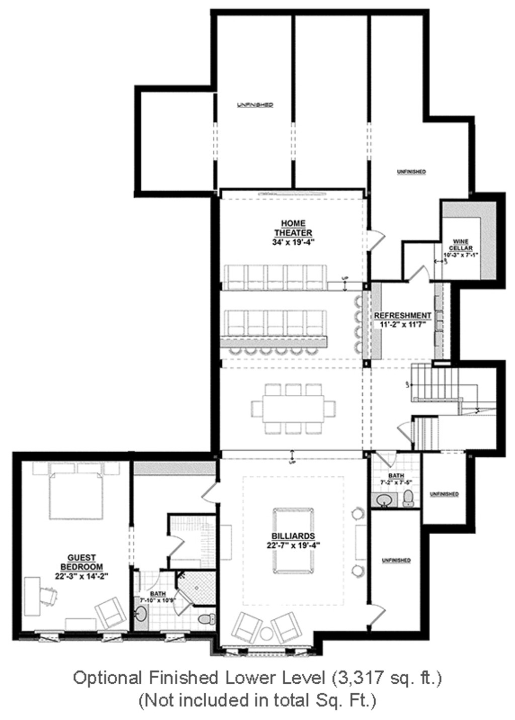 One Story House Plans with Finished Basement Beautiful Country Style House Plan 4 Beds 4 5 Baths 4852 Sq Ft Plan 928 1