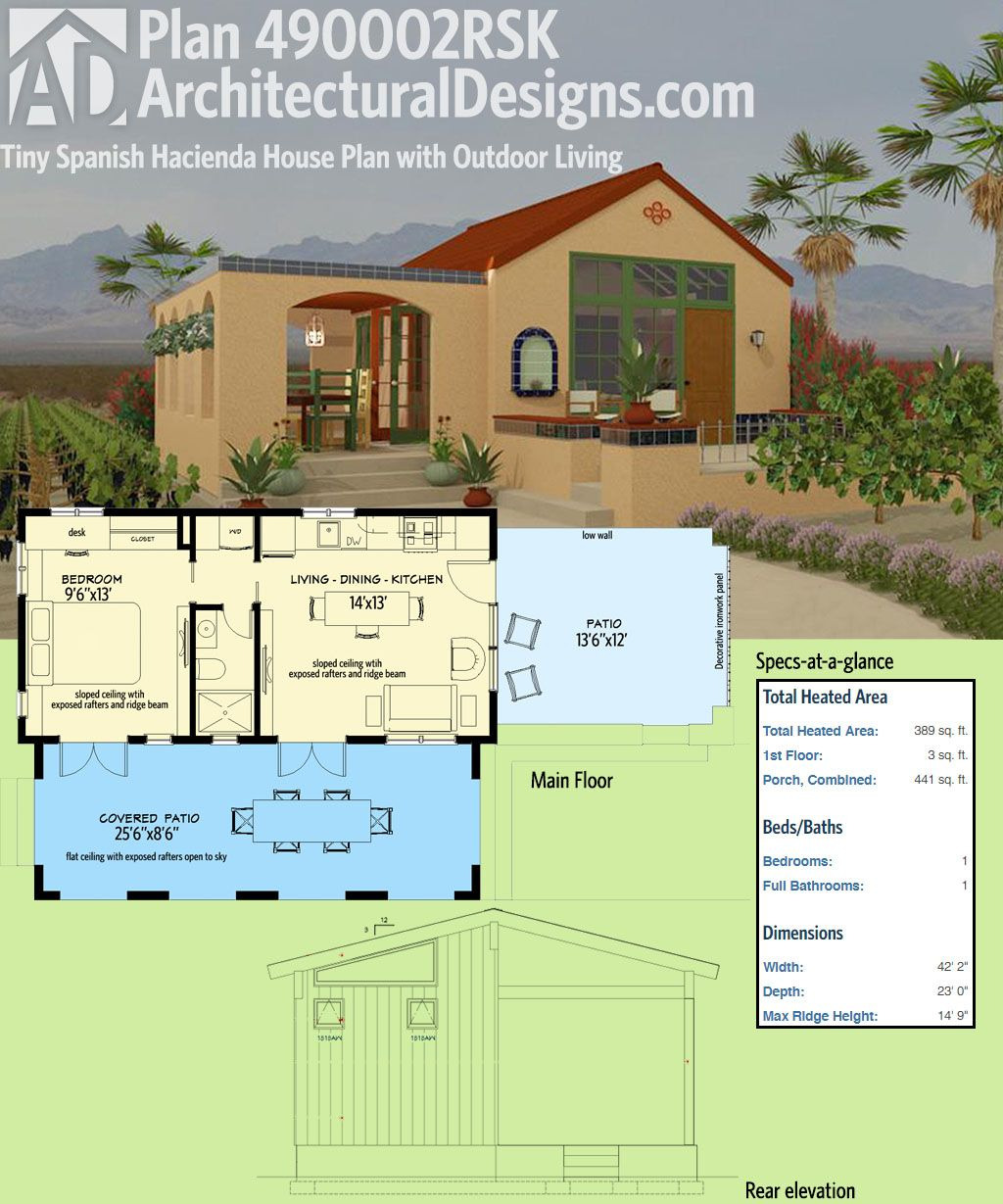 Patio Home House Plans Luxury Architectural Designs Tiny House Plan Rsk is Modeled